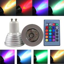 GU10 3W 16 Color Changing RGB LED Light Bulb with Remote Control Dimmable Lamp