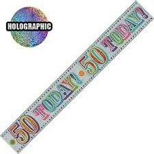 BIRTHDAY & PARTY BANNERS 18TH 21ST 5OTH 65TH 70TH 80TH 90TH  WALL DECORATIONS