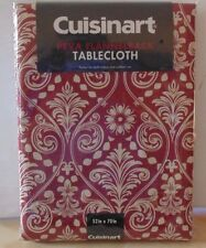 Cuisinart PEVA Flannel Back Tablecloth - Damask Cinnamon 4 sizes