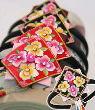 Korean traditional Daenggi clothes HANBOK SQUARE Hairband pigtail dress girl
