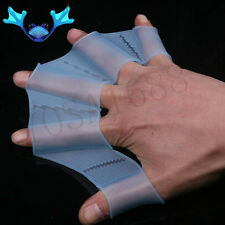Silicone Swim Pool Training Swimming Half finger Hand Fins Webbed Gloves Paddles