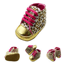 Warm Soft Baby Infant Toddler Boy Girl Leopard Shoes 0-6 Month SYH
