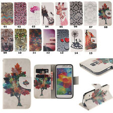 For Samsung Galaxy S3 S4 Phone Case PU Leather Flip Stand Magnetic Wallet Cover