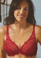 Playtex Flower Lace Wired Bra, Style 5832 Raspberry 34-42, B-G Briefs Available