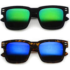 SQUARE WAYFARER SUPER RETRO NEW WOMEN MEN MIRRORED SUNGLASSES