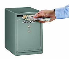 Drop Slot Safe Solid Steel Cash Box Money Lock Vault Office Home Security Key