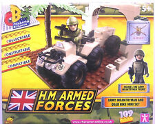 HM ARMED FORCES CHARACTER BUILDING - QUAD BIKE SET & INFANTRYMAN - BRAND NEW!