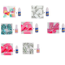 Glitter Twinkle Fashion False Acrylic Nail Tips False Nails Kit AS