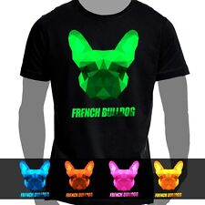 T-Shirt Cotton Size S-5XL Polygon Pressure Dog French Bulldog
