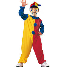 Child Carnival Clown Party Fancy Dress Costume Circus Jester Kids Boys Girls New