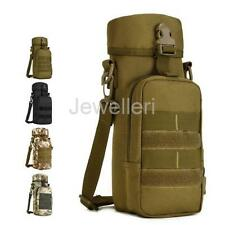 1pcs Portable Water Bottle Cup Tactical Military Molle Bag Kettle Pouch Holder