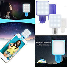Selfie Portable 9 LED Flash Clip Fill Light Lamp For Samsung iPhone 6 Smartphone
