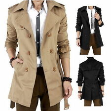Winter Slim Double Breasted Trench Coat Long Jacket Overcoat Outwear