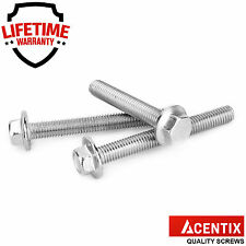 M8 (8mmØ) A2 Stainless Steel Flanged Hexagon Bolts Flange Hex Head Screws