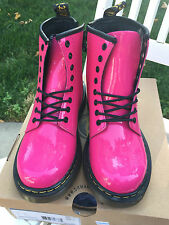 Dr. Martens Kids Delaney Pink Patent - Brand New with Box
