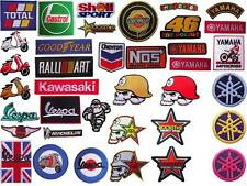 New Racing motocross Motorcycle embroidered iron on patch badge applique.