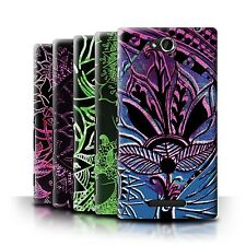 STUFF4 Back Case/Cover/Skin for Sony Xperia C/C2305/Henna Paisley Flower