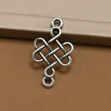Lot10/30/200ps Tibetan silver Chinese knot Charm pendant Jewelry Findings31*18mm