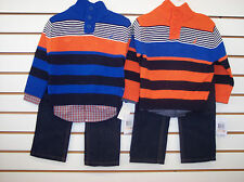 Toddler Boys Nautica $59.50 3pc Striped Sweater Sets Size 2T - 4T