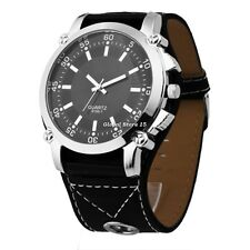 New Fashion Mustache Pattern Quartz Wrist Watch With Leather Band Metal Case GS