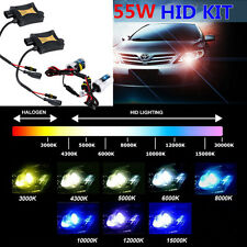 55W HID Xenon Bulbs Headlight Slim Ballast Conversion Kit H13 H4 H27 9007 D1S