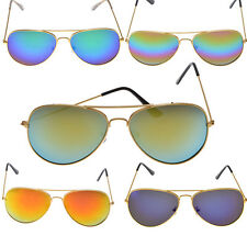 Neviss Aviator Style Multi Colored Lens Shades w/ Gold Frame