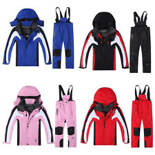 Kids Ski Clothes Winter Boy Gril Snowsuit Jacket Pants Suit Thermal Waterproof