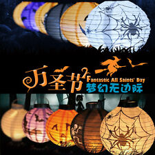 LED Paper Lantern Pumpkin Spider Bat Hanging Light Halloween Party Decor hot