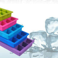 15-Cavity Maker Mold Mould Tray Silicone Tool Large Cube Ice Pudding Jelly Hot