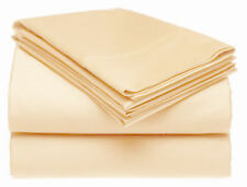 100% Pure Natural Finest Egyptian Cotton 200 Thread Count Valance Sheet Latte