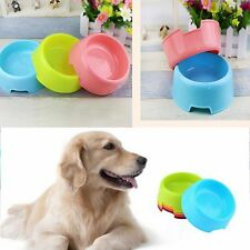 Candy Color Dog Cat Pet Puppy Feed Water Dish Plastic Food Dish Dinner Bowl Tool
