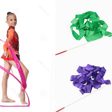 Dance Ribbon Gym Rhythmic Gymnastic Art Ballet Streamer Twirling Rod Baton Stick