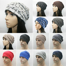 Mens Womens New Fashion Hip-Hop Warm Winter Cotton Knit Ski Beanie Skull Cap Hat