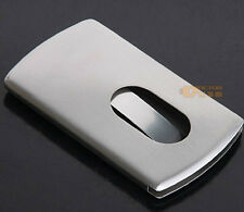 Customized Logo Stainless Steel Business Credit ID Card Holder Wallet Metal Case