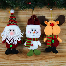 Christmas Tree Hanging Ornaments Snowman Reindeer Santa Claus Xmas Decoration