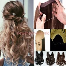 Long Straight Curly Piece Wire Hair Piece Hair Extensions As Human Brown Blonde