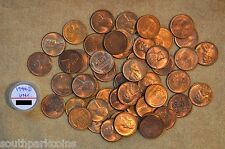 ROLL OF 1944-D LINCOLN WHEAT CENTS - UNCIRCULATED WITH PROBLEMS/IMPERFECTIONS