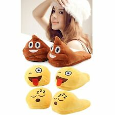 Emoji Plush Stuffed Unisex Home Slippers Cartoon Indoor Home Slipper Shoes IG