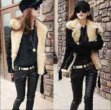 Womens Fashion Warm Lush Fur Winter Coat Thicken Outerwear Jacket Short Style