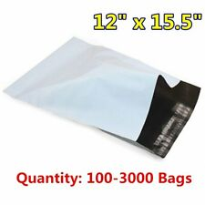 100-3000 12x15.5 Poly Mailers Shipping Envelope Self Seal Plastic Bags Wholesale