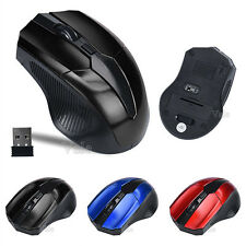 USB 10m Wireless Optical 2.4GHz 4 Keys Mouse Cordless Mice For Laptop 3-Colors