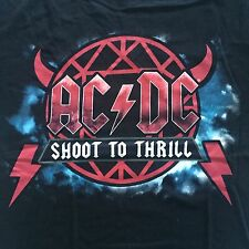 AC/DC - SHOOT TO THRILL  AUSTRALIAN  2010 Tour Shirt( Official Merch) L,XL