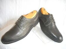 Mens Clarks 1825 Gray Leather Dress Casual Oxfords Size 12 M