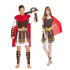 Adult Roman Gladiator Costume Spartan Warrior Centurion Fancy Dress Outfits UK