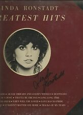 LINDA RONSTADT SIGNED HITS LP BLUE BAYOU WHEN WILL I BE LOVED DIFFERENT DRUM
