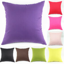 Fashion Solid Candy Color Home Sofa Décor Throw Pillow Cases Cushion Covers