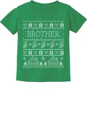 Funny Brother Ugly Christmas Sweater Toddler/Infant Kids T-Shirt Gift