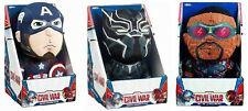 Marvel Civil War Captain America Black Panther Talking Plush Deluxe Soft Toy New