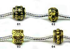 European Charms Beads Oxidised Bronze Fashion Jewellery Fit European Bracelet