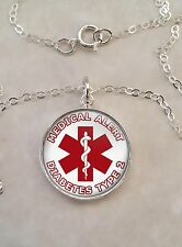 Choose Medical Alert Message Sterling Silver 925 Pendant Necklace